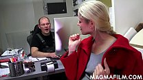 CFNM - clothedBossy bitch uses her employee for pleasure