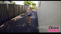 Broke Skinny Blonde Teen Fucks For Money thumbnail