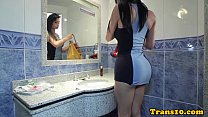 Sensual latina tgirl pounded
