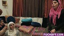 Muslim besties dirty bachelorette party with a stripper صورة