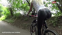 My Dirty Hobby - Busty ass fucked in leather pants video