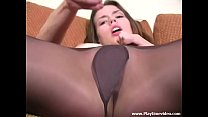 Madi Meadows 18 Year Old SOLO Teen Seamless & Wolford Glossy Pantyhose with Very Sexual JOI!