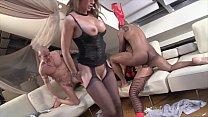 candymartini cam ⁃ Interracial anal cream fart orgy with Milfs Valentina Ross & Klarissa Leone thumbnail
