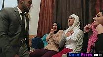 Muslim teen bride and arabian BFFs use a BBC stripper