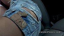 7066 Blonde teen robber bangs stranger in car preview