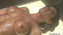 Big tits ebony TS bangs man