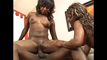 2 big tits ebony hotties share a big black cock Vorschaubild