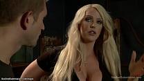 Tied big boobs MILFs anal fucked