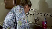 Mom's Hand Gets Stuck in Sink & Son Molests Her - Forced Sex, POV, MILF - Nikki Brooks image