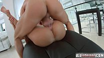 All Internal Brunette newcomer gets double vaginal creampie
