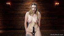 Hot ass Giselle Palmer fucks machine