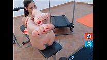 lexy feet fetish at gym