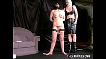 16740 Crystels lesbian domination and lezdomme spanking by blonde leather femdom preview
