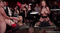 Download video bokep Busty slaves in bondage anal fucked orgy 3gp terbaru