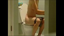 Spying my cute sister nude in toilet. Hidden cam Preview