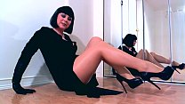 Dominant hypno Diva teasing in shiny pantyhose preview image
