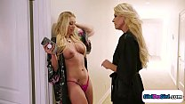 Milfs India Summer and Katie Morgan decide to lick off set
