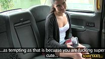 Hot babe and pervy taxi driver performs doggystyle banged Preview