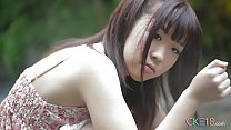 Shy Japanese teen angel first time erotic outdo...