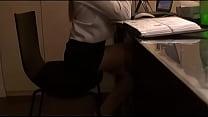 Hot secretary with perfect body