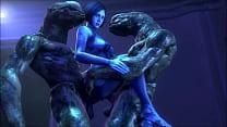 Cortana fucking aliens PMV