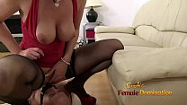 Mouth mount dildo gag fun with Mistress Lara