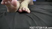 I love it when guys lick my soft little feet thumbnail