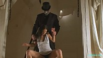13892 BDSM model Alex Zothberg captured by a stranger and nude whipping preview