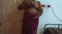 19543 Indian Hot Mallu Aunty Nude Selfie And Fingering For  father in law preview
