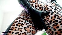 Leopard latex rubber fetish video many ass tease free facesitting desires femdom pov
