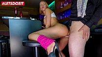 LETSDOEIT - Lucky Bartender Has Hard Sex With Delicious Blondie Anike Ekina