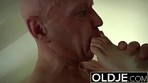 Horny Morning Sex Old Young Porn Girlfriend gets fucked cum shower صورة