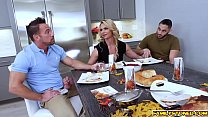 Image: Phoenix Marie double team by two loaded cocks getting sandwich in the middle!