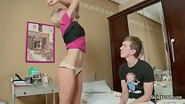 Brother Helps Petite Skinny Step-Sister with Her First Fuck