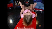 18kittensquirt - Tiny Blondie Babe Gets A Mouth Full Of Semen After A Huge Gangbang thumbnail
