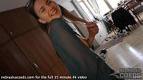 19yo ieva teen braces nipple clit suction and glass dildo deep penetration giggly girl