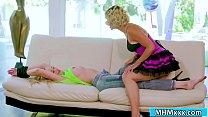 Dana unties Brandi and licks her pussy