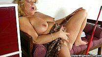 Granny rather masturbates than do housekeeping Image