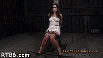 Beauty receives wild torment for her horny shaved love tunnel preview image