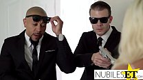 NubilesET - Hime Marie Gets Double Teamed By The Men In Black thumbnail