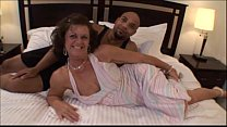 Sexy housewife swinger fucking black dude in Mi...