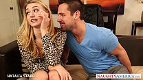 Gorgeous blonde Natalia Starr gives blowjob video