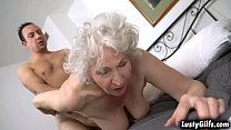 Norma B needs a young cock in her vintage pussy and ROb is happy to give it to her