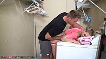 Step Sister Sierra Nicole Gets Cream pie on Top of Washer by Older Brother! preview image