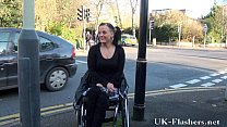 Paraprincess public nudity and handicapped pornstar flashing image