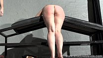 Spanking redhead amateur Tiny in harsh dungeon whipping and sexual domination of preview image