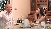 DADDY4K. Teen Tiffany Doll gives blowjob to mature man because her BF loves cars Vorschaubild