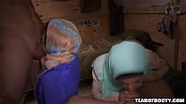8295 Arab babes suck cock and fuck soldiers preview
