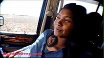 Hurricane Irma survivor 8 month pregnant Thai Teen deepthroat throatpie cum swallow in car ภาพขนาดย่อ