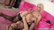 Interracial anal orgy gives blonde sluts Nataly & Angel Black cream farts Vorschaubild